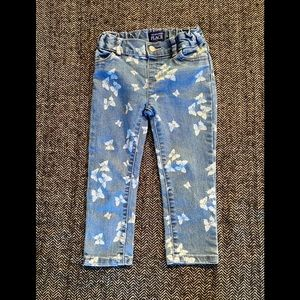 Children's place butterfly imprinted jeans size 3T